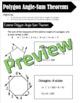 Polygon Cheat Sheet - Angle Sum Theorem Notes - Editable