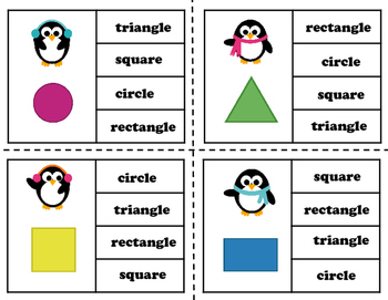 Clip and Flip It Polygon Cards (Penguins and Plain)