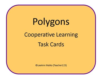 Polygon Cooperative Learning Task Cards