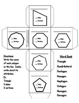 Polygon Cube - Craftivity
