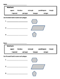 Geometry: Polygon Exit Ticket