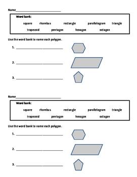 Geometry: Polygon Exit Ticket