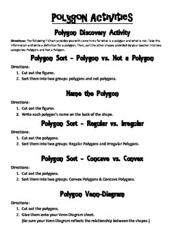 Polygon Exploration Activity Packet