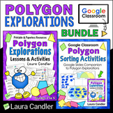 Polygons Bundle with Hands-on Geometry and Google Classroo