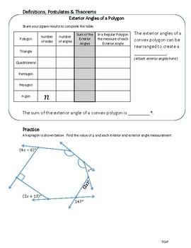 Polygon Exterior Angle Sum