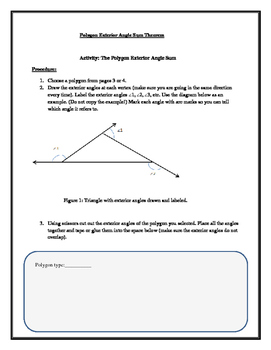 Polygon Exterior Angle Sum Fun activity and Guided Practice