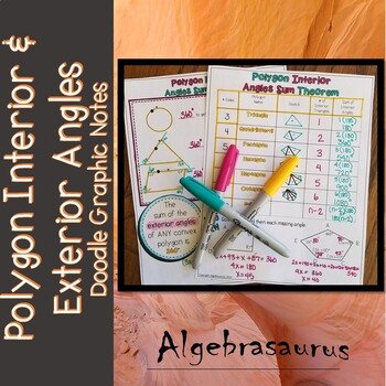 Polygon Interior Angle Sum & Exterior Angle Sum Theorems Doodle Notes