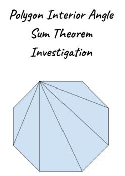 Polygon Interior Angle Sum Theorem Investigation