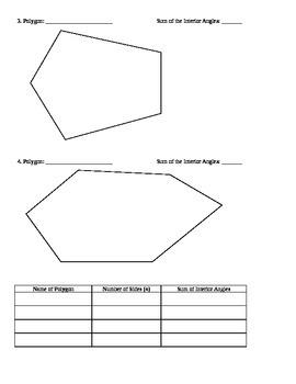 Polygon Interior Angles Investigation