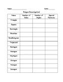 Polygon Investigation Recording Sheet