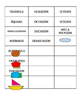 Polygon Match Game
