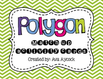 Polygon Match Up Activity Cards **FREEBIE**