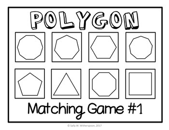 Polygon Matching Game, Geometry Sort, Includes 10 Versions!
