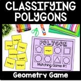 Polygon Matching Game, Geometry Sort, Polygon Math Game, Montessori Game