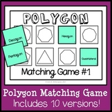 Polygon Matching Game, Geometry Sort, Polygon Math Game, Montessori Game