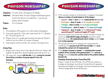 Polygon Mokshapat - 7th Grade Game [CCSS 7.G.B.6]