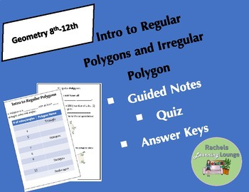 Polygon Names and Sides ( Finding the interior and exterior angles)