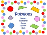 Polygon Packet  Posters, Word Wall, Flashcards, Games, Riddles, & Quiz