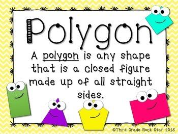 Polygon Palooza! Common Core Geometry Packet (Yellow Chevron) #christmasinjuly