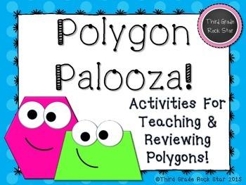 Polygon Palooza! A Common Core Aligned Geometry Packet (Blue Polka Dots)
