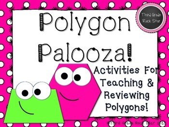 Polygon Palooza! A Common Core Aligned Geometry Packet (Pink Polka Dots)