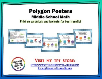 Polygon Posters - Middle School Math