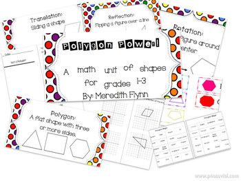 Polygon Power -- Common Core Aligned Polygon Unit for Grades 1-3