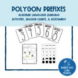 Polygon Prefixes - Academic Vocabulary Development in Math