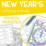 Polygon Properties Geometry NEW YEAR Coloring Activity