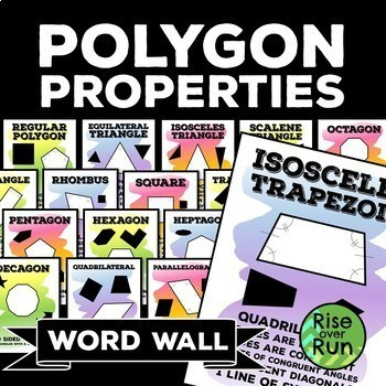 Polygon Properties Word Wall Posters