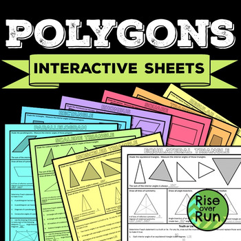 Polygons Properties Interactive Notebook Sheets for High S