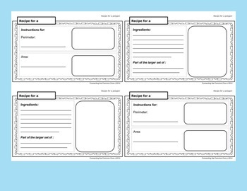 Polygon Properties Recipe Cards