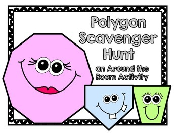 Polygon Scavenger Hunt-Polygons with 10 or Fewer Sides