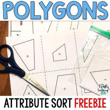 Polygon Shape Sort FREEBIE #resourceswelove