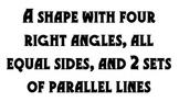 Polygon & Shapes Math Wall Signs