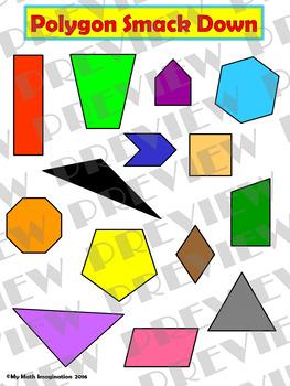 Polygon Smack Down - Triangles, Quadrilaterals, Pentagons, Hexagons, Octagons