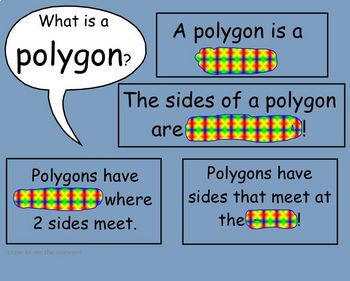 Polygon SmartBoard Math Lesson for primary grades