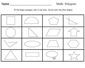 Polygon SmartBoard Math Lesson for primary grades