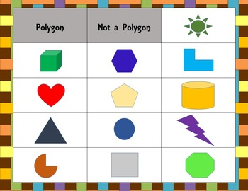 Polygon Sort FREEBIE!
