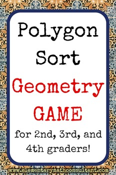 Polygon Sort Geometry Game for 2nd, 3rd, and 4th graders