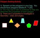 Polygon Sorting Activity - Geometry Intro. on Smartboard,
