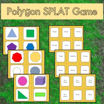 Polygon Splat Game--Perfect for centers and small group