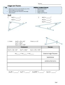 Polygon Sum Theorem