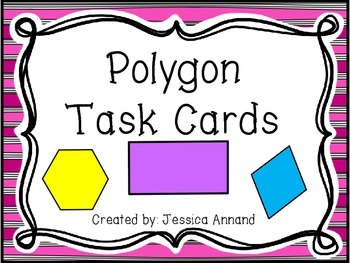 Polygon Task Card, Poster, and Worksheet