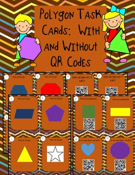 Polygon Task Cards-With and Without QR Codes!