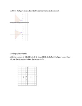 Polygon Transformation Review