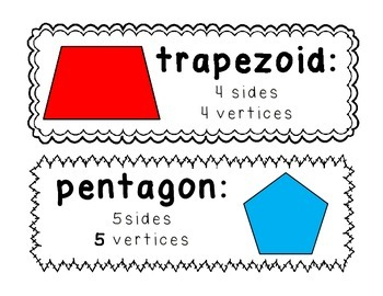 Polygon Vocab Cards