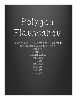 Polygon Vocabulary Flashcards