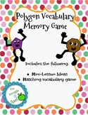 Polygon Vocabulary Memory Game