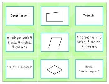 Polygon Vocabulary & Shape Sort
